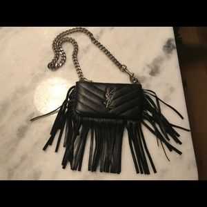 Authentic YSL Small Fringe Bag